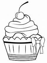 Cupcake Coloring Malvorlagen Bedruckbare Frei sketch template