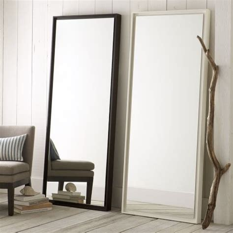 floating wood floor mirror moderne miroir 224 poser au sol par west elm