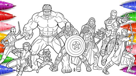 avengers 4 coloring pages coloring avengers captain