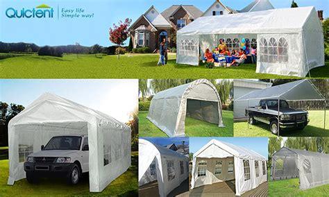 amazoncom quictent    heavy duty carport gazebo canopy party tent garage car shelter