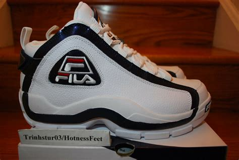 fila grant hill  white peacoat navy chinese red