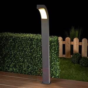 Borne Lumineuse Exterieur : borne lumineuse led lennik gris graphite ~ Teatrodelosmanantiales.com Idées de Décoration