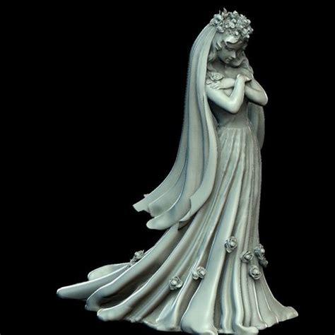bride wedding dress sculpture  printable model