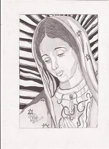 Dibujos De La Virgen De Guadalupe Facil Para Dibujar Imagui