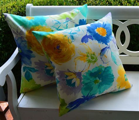 Pillow Slipcovers by 2 Pk Decorative Throw Zipper Pillow Covers Retro Blue