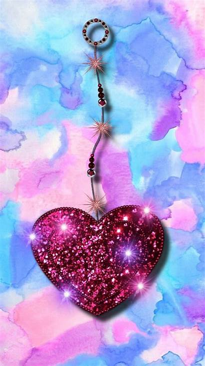 Heart Phone Hearts Glitter Wallpapers Backgrounds Iphone