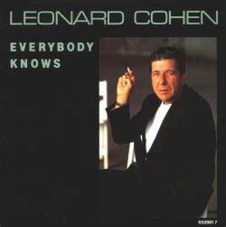 Leonard cohen song: everybody knows(concert), lyrics and chords.