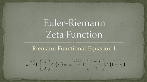 zeta function part  riemann functional equation  youtube
