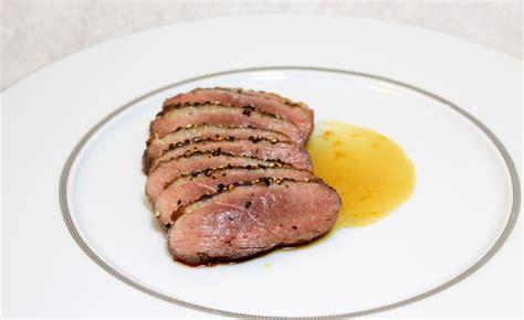 sautoir cuisine magret de canard au poivre sauce bigarade par alain