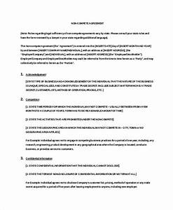 10 vendor non compete agreement template free sample With business templates noncompete agreement