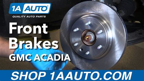 replace front brakes   gmc acadia youtube