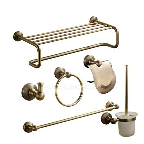 antique bronze brass bathroom accessory sets 6