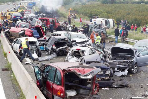Five Dead, 30 Injured In 40 Car Pile-up In Greece