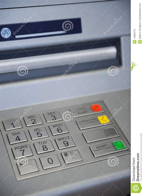 atm machine keyboard stock  image