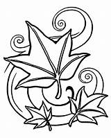 Coloring Pages Leaf Leaves Falling Pentagram Drawing Landscape Jungle Clover Tree Rose Petals Pagan Autumn Printable Getdrawings Getcolorings Clipartmag sketch template