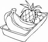 Coloring Banana Pages Pineapple Fruit Bananas Apples Colouring Hand Printable Fruits Drawing Clipart Vegetable Bananaman Grapes Coloringhome Popular sketch template