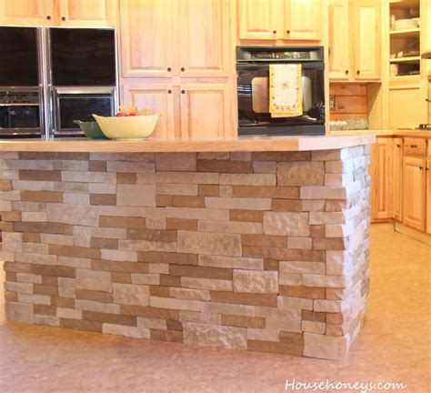 tile top kitchen island decorating recommended lowes airstone for wall decor 6186
