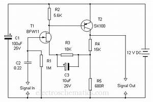 Grozzart  Preamplifier Circuit Diagram