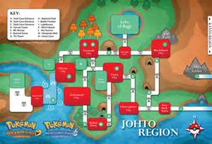 Pokemon Johto Map