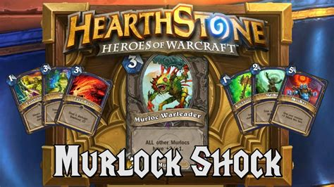 Shaman Murloc Deck No Quest by Hearthstone Deck Spotlight Murloc Shock Shaman