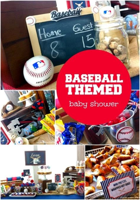 Baby Shower Baseball Theme Decorations - baseball themed boy baby shower ideas spaceships and