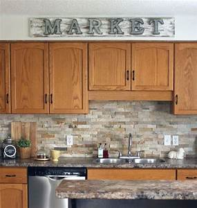 best 20 oak kitchens ideas on pinterest oak island With kitchen colors with white cabinets with carolyn kinder wall art