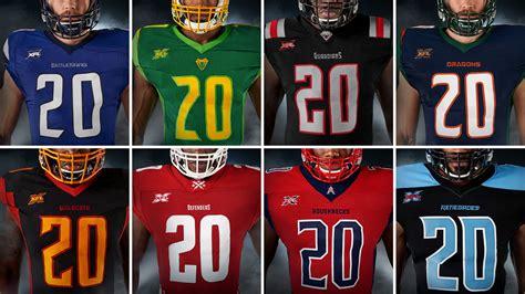 xfl uniforms helmets  jerseys revealed