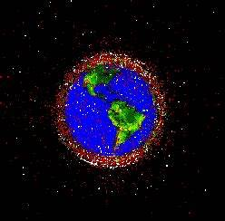 Space Debris Map - Space Junk Danger - Satellite Falling ...