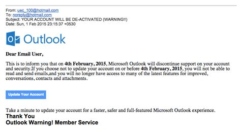 Beware Of Outlook.com Phishing Scam