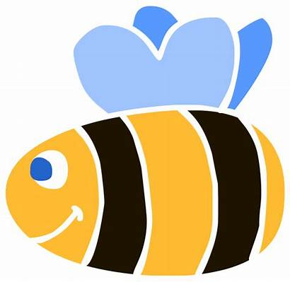 Bee Simple Clipart Clip Bees Cliparts Animated