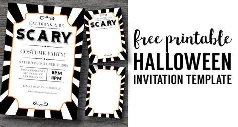 halloween invitations  printable template paper