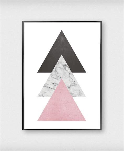 cuadro triangulos abstracto marmol rosa