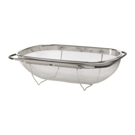 The Sink Colander Stainless Steel by Grunwerg Stainless Steel The Sink Extendable Strainer