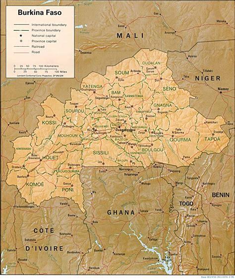 Ģeogrāfiskā karte - Burkinafaso - 979 x 1,162 Pikselis ...