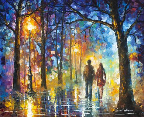 Afremov, Original, Oil, Painting, Palette Knife