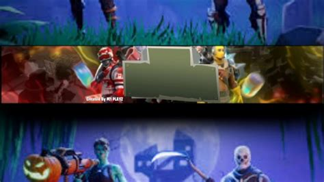 Fortnite Youtube Banner Template No Text