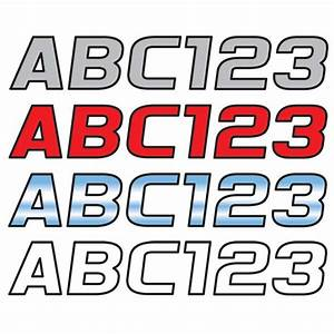 Hardline products 3quot block lettering kit contrasting for Boat lettering styles