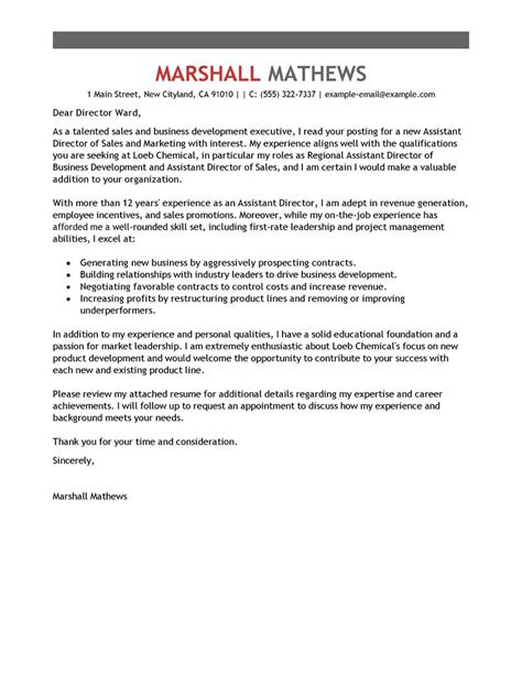 Cover Letter For Property Management Position by Best Assistant Director Cover Letter Exles Livecareer