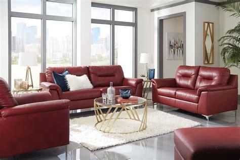 tensas red living room set  ashley coleman furniture