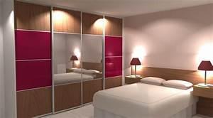 Dressing Avec Miroir : porte coulissante dressing 4 vantaux avec miroir ~ Teatrodelosmanantiales.com Idées de Décoration