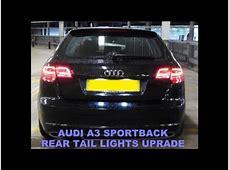 Audi A3 Sportback LED Rear Tail Lamp Retrofit Upgrade
