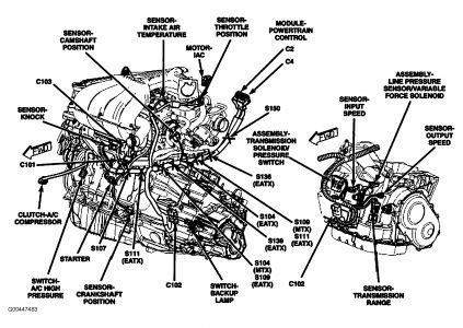 pt cruiser engine diagram automotive parts diagram