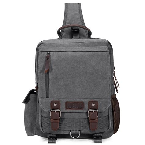 canvas sling chest bag travel hiking cross