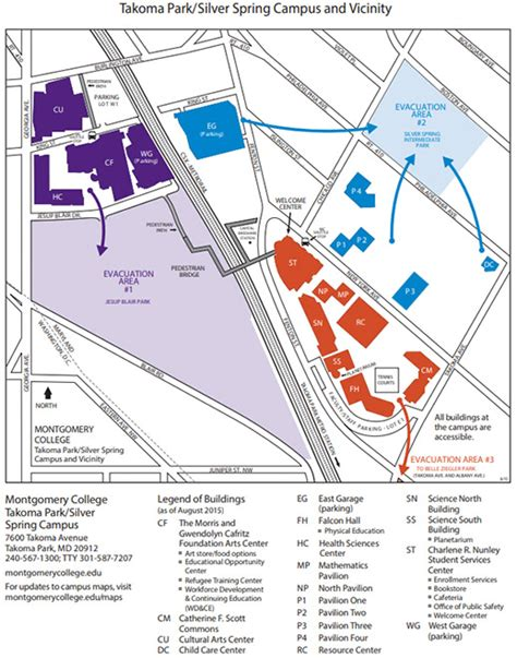 Montgomery College Rockville Campus Map