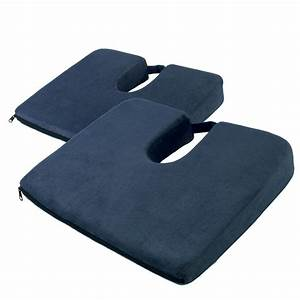 set of 2 coccyx cushions seat wedge chiro lumbar support With back wedges for lumbar support