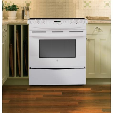 """JS630DFWW   GE 30"""" Slide In Front Control Electric Range"""