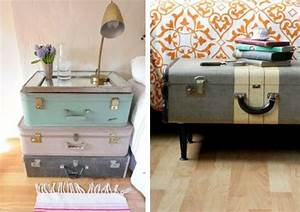 Valise Vintage Pas Cher : ma valise vintage j 39 en fais quoi vert cerise blog diy do it yourself lifestyle et cr atif ~ Teatrodelosmanantiales.com Idées de Décoration