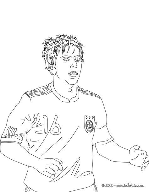 Kleurplaat Bayermunchen by Philipp Lahm German Football Player Coloring Pages