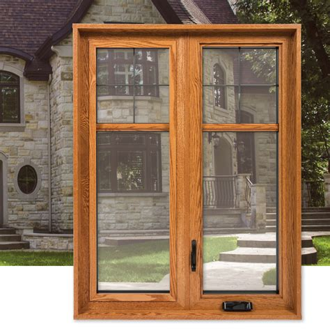 casement  awning window system  wood interior finish  series portatec