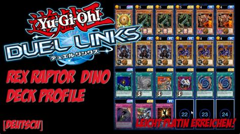 five headed deck duel links yu gi oh duel links dino deck profile platin rang